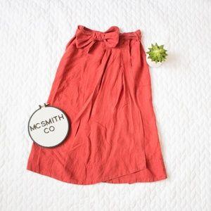 MaxMara   Weekend Burnt Orange Midi Wrap Skirt